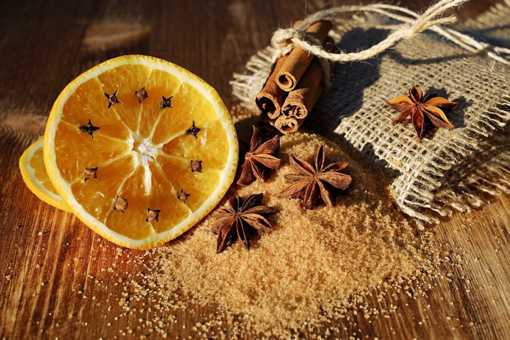 Sternanis, Orangen, Zimt
